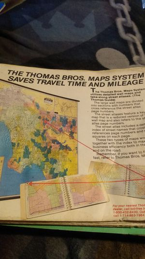 Vintage 1987 Thomas Brothers map system for Sale in Sacramento, CA