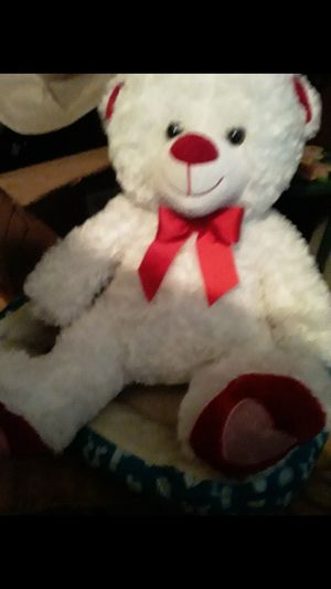 New Valentines white teddy bear for Sale in Woodville, TX