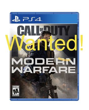 Call of duty modern warfare ps4 WANTED for Sale in Los Angeles, CA