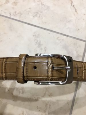 """"""" GREAT CONDITION - STACY ADAMS LEATHER CROC SKIN BELT !!!! BEAUTIFUL BROWN!!!!! / 30-34"""" WAIST!!!! for Sale in Orlando, FL"""