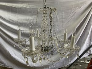 "5 Arms Crystal Glass Light Chandelier 25"" H x 24"" W Venetian Style for Sale in Anaheim, CA"