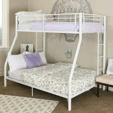 new bunk bed white with both mattress included new for Sale in Palm Beach, FL