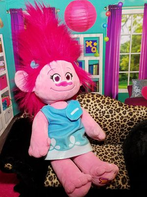 Build A Bear Trolls Poppy Plush BABW Pink Stuffed Girl Doll w/ Dress for Sale in Dale, TX