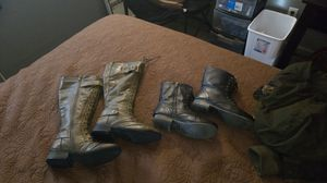 2 pairs of Leather boots for girls size 5 1/2 for Sale in Thornton, CO