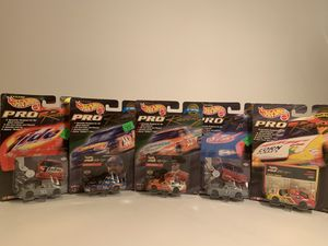 Hot Wheels Pro Racing Lot Of 5 1/64 Die Cast Cars Bodine Tobasco Petty Tide STP for Sale in Fresno, CA