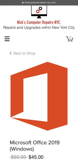 Microsoft Office 2019 for Windows for Sale in New York, NY