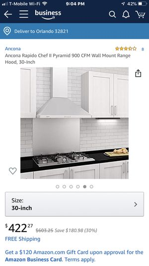 Wall mount range hood for Sale in Orlando, FL