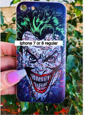 Brand new cool iphone 7, 8 REGULAR case cover rubber joker batman cartoon mens guys hypebeast hypebae womens girls hype swag for Sale in San Bernardino, CA
