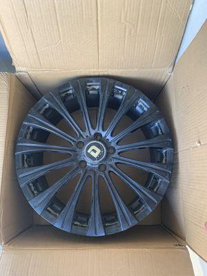 """DRAG Rims 4 Flat black 18"""" for Sale in Glendora, CA"""