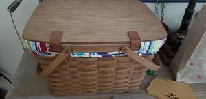 Longaberger large picnic basket for Sale in Pittsford, NY