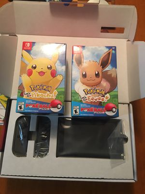 NEW nintendo switch with SEALED pokémon Let's GO games! for Sale in Stuart, FL