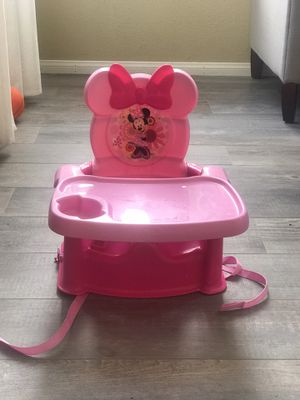 Minnie Mouse space saver high chair booster seat for Sale in Tracy, CA