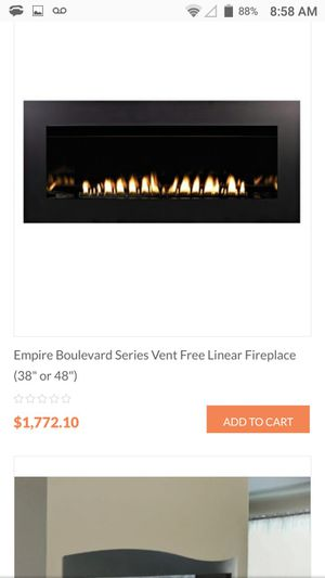 Gas vent free fire place for Sale in Portland, OR