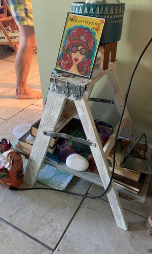 Hand painted ladder shelf for Sale in West Palm Beach, FL