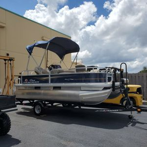 2021 Bass buggy 16xl pontoon boat 50 hours for Sale in Riverview, FL