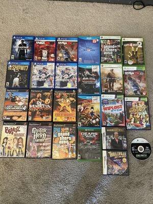 Xbox one, Xbox 360, PlayStation 2, PlayStation 4, Nintendo DS and Nintendo Wii U Video Games for Sale. Message for prices. for Sale in Norco, CA
