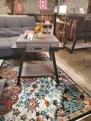 CMC End Table, Distressed Grey & Black for Sale in Westminster, CA