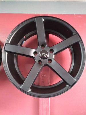 5x114 rims wheels matte black we have all kinds of rims for Sale in Arlington, TX
