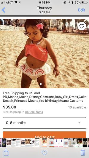 Baby Moana outfit for Sale in Visalia, CA