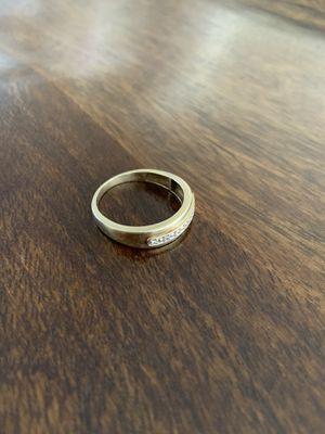 Men's wedding ring 10k white gold for Sale in Phoenix, AZ