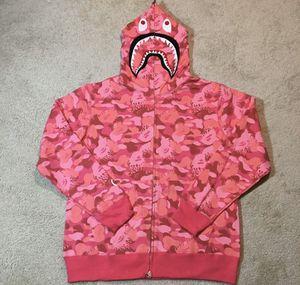 Bape shark hoodie pink camo for Sale in Brooklyn, NY