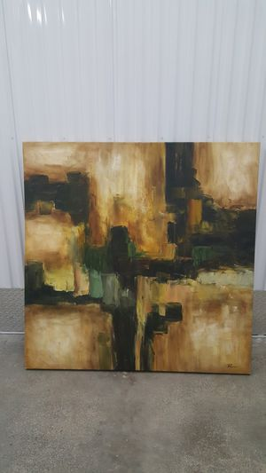 Impresionist Abstract canvas painting . for Sale in Miami, FL