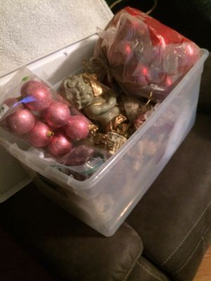 Tote of miscellaneous Christmas Decorations for Sale in Dunbar, WV