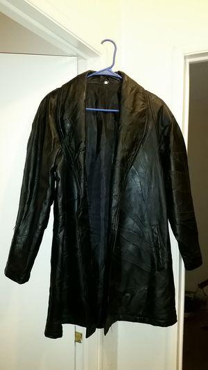 Mens black leather jacket for Sale in Las Vegas, NV