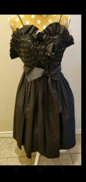 Black sequin prom dress with sz 7.5 inch heels $20 if needed for Sale in Round Rock, TX