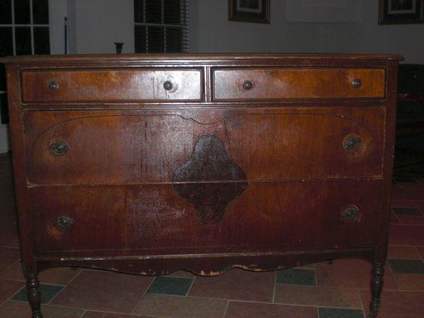 Beautiful solid cherry wood antique bedroom set