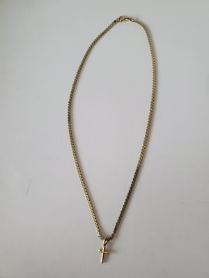 14k serpentine chain necklace with cross charm for Sale in Arvada, CO