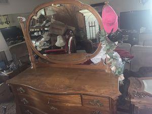Antique dresser with desk for Sale in San Bernardino, CA