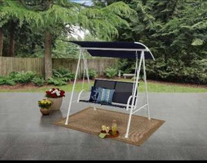Patio Set Swing 2 Person Porch Seat Lawn pool side furniture for swimming seating lounge chair sun bathing shade barbecue party Bbq grilling grilll for Sale in Henderson, NV