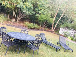Black Cast Iron Outdoor Furniture Set for Patio for Sale in Millersville, MD