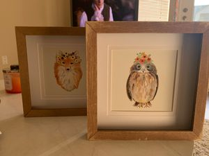 Owl & fox wall decor for Sale in Bothell, WA