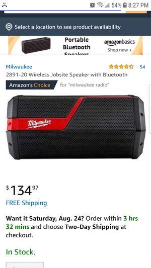 Milwaukee Bluetooth speaker for Sale in Sun City Center, FL