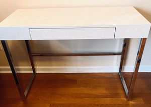 One of a kind faux shagreen modern white desk for Sale in Chicago, IL