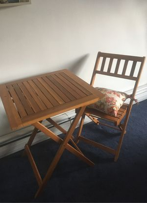 Wooden Folding Table and Chair for Sale in The Bronx, NY