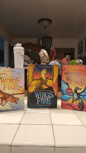 Wings of Fire books 1-5, 10, and 11 (6 out of the 7 books are signed by Tui Sutherland) for Sale in Kenmore, WA