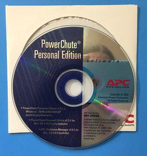 APC PowerChute Personal Edition Power Chute Software PC Windows v1.3 Mac v1.2.1 for Sale in Stockton, CA