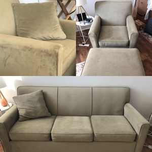 Sofa couch, arm chair, ottoman and 2 pillows for Sale for sale  West New York, NJ