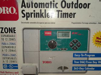 Toro Automatic Sprinkler Timer EC 53331 6 Zone *Box Has Some Ware* for Sale in Hillsboro,  OR