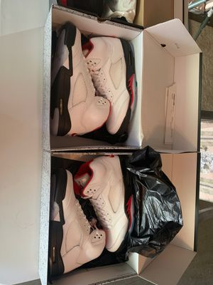 2 pair of Jordan 5 fire reds size 13 for Sale in Inver Grove Heights, MN