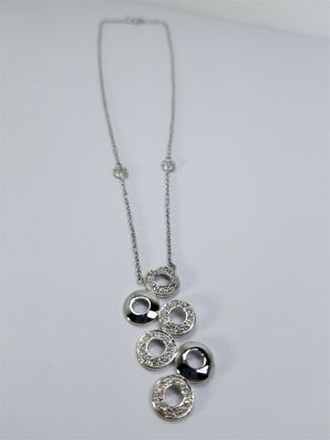 Women's Silver 925 Chain with CZ's Stones Charm / Pendant #81151 for Sale in Lawrence, NY