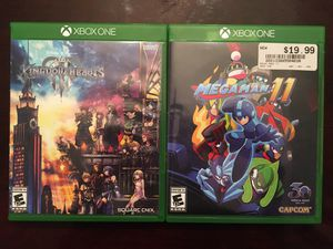 Kingdom Hearts 3/MegaMan 11 (XboxOne) for Sale in Fort Worth, TX
