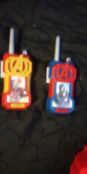 Walkie talkie captain America avengers for Sale in Posen, IL