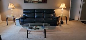 Italian Leather Recliner Sofa, Chair and Coffee Table Set for Sale in Falls Church, VA