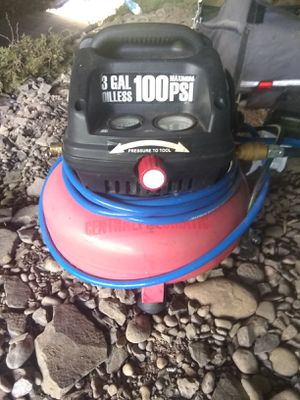Central Pneumatic 3ga 100psi Oilless Pancake Air Compressor for Sale in Eugene, OR