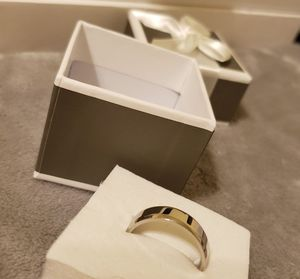 Stainless Steel Polished Flat Band with Beveled Edge Ring Size 12 for Men, 6mm for Sale in Columbus, OH