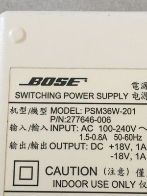 Bose Sounddock Series I 1 Switching Power Supply Model PSM36W-201 White 4 Pin for Sale in Portland, OR